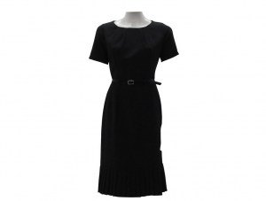 black-ladies-pleated-dress